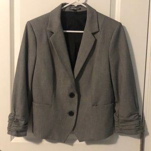 Express fitted woman's 3/4 sleeve blazer